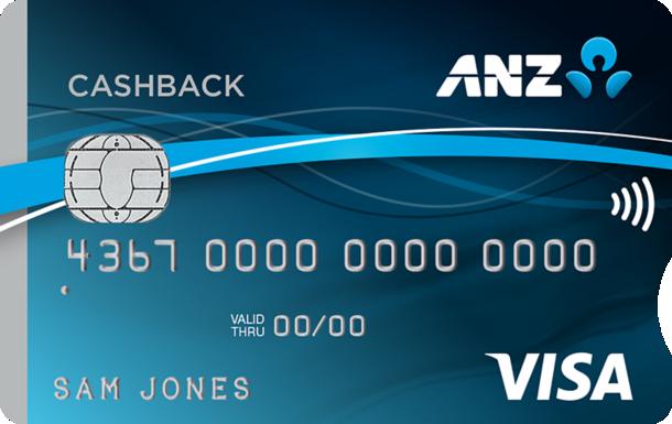 An ANZ CashBack Visa card